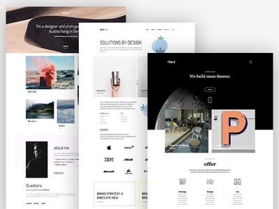 6 Awesome Muse Templates ui minimal creative theme muse design web rwd templates portfolio agency