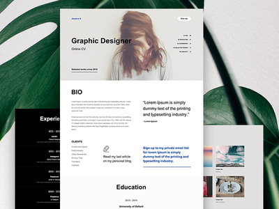 Online Resume - Titan Muse Templates design web rwd ui cv portfolio resume theme templates muse adobe