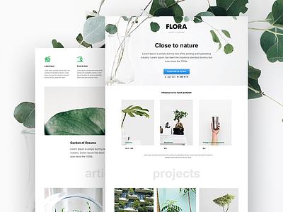 Muse Template for Landscape Design Studio portfolio garden inspire minimal theme template studio ui muse adobe desgin web
