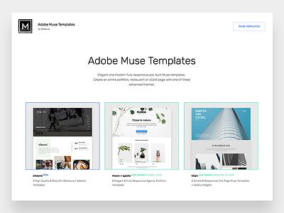 Muse Templates Portfolio portfolio adobe theme muse templates ui ux simple clean minimal