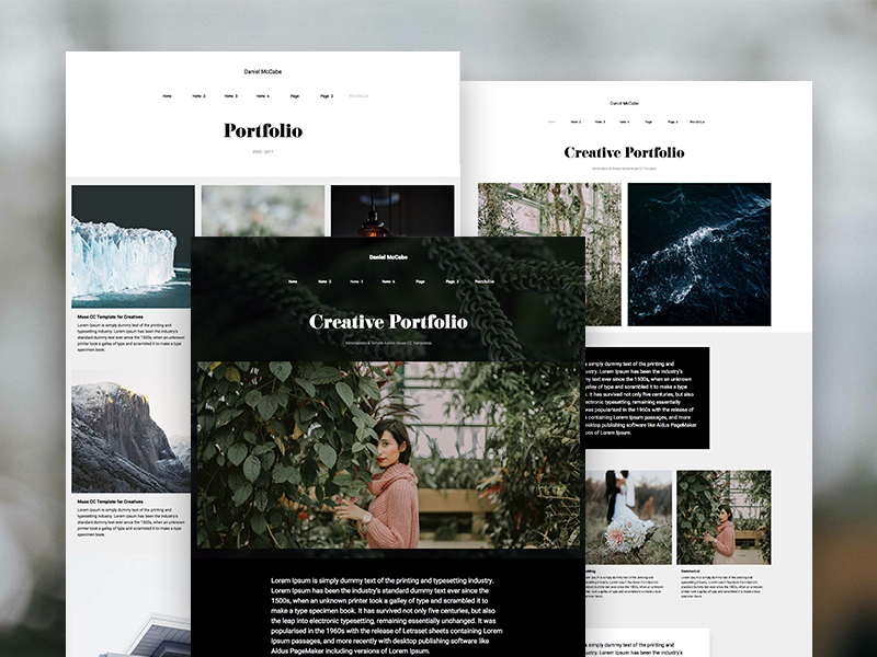 Adobe muse portfolio templates by marcin czaja dribbble muse portfolio responsive template gallery widget muse templates pronofoot35fo Images