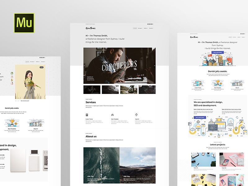 Simple Muse Templates By Marcin Czaja Dribbble Dribbble