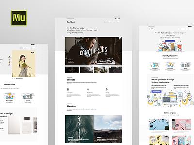 Simple Muse Templates minimal simple slider home page creative portfolio gallery responsive adobe templates muse
