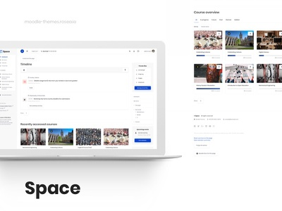 Space - Responsive Moodle Theme courses dashboard moodle school university ui webdesign web