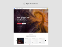 alpha - fully responsive moodle theme