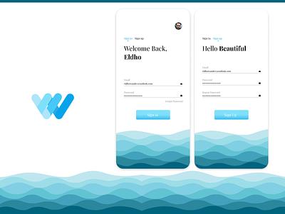 Sign in Sign up Flow flat vector logo illustration app uiux uidesign dailyui typography design