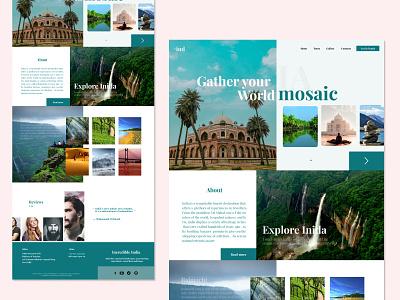 Travel Landing Page product design illustration app dailyuichallange ui uiux dailyui uidesign typography design