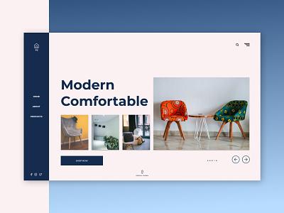 Furniture Company (FC) Landing Page Experiance design product design typography furniture store website design ui uiux dailyui uidesign minimaldesign design