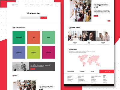 Career Page Redesign for Wipro design uidesign responsive website design dailyui web webdesign uiuxdesign product design wipro