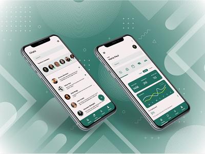 Dashboard & Chat Screen product design app ux ui uiux uidesign design
