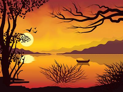 Landscape illustration 2 illustration graphic