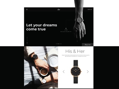 Home Page Design,dw branding dailyui typography design ui design ui  ux montserrat blackandwhite menu homepage design home danielwilligton dw