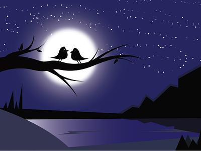 The lovely Night dribbble adobe illustrator