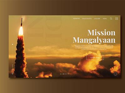 Home page uiuxdesigner missionmangal uiuxdesign ux uidesign ui dailyui typography design