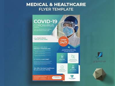 Medical healthcare flyer health flyer professional business healthcare corona virus coronavirus covid19 clinic flyer hospital doctor medical care medical advert advertisement