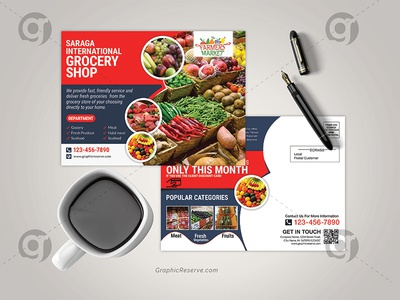 Grocery Shop Eddm Postcard Template