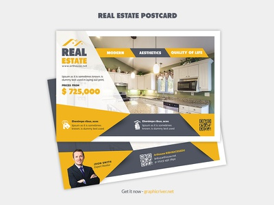Real estate postcard direct mail post postcard open negotiator multipurpose mortgage marketing loan lease house home company commercial card business postcard broker agent agency advertising advertisements