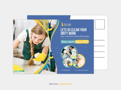 Cleaning service postcard templates promotion promo postcard maid services maid cleaning leaflet housekeeping house cleaner home cleaning home flyer domestic cleaning dirty work commercial cleaning cleaning services cleaning company clean advertising advert