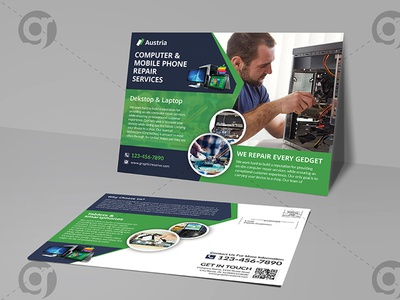 Computer and mobile repair center EDDM postcard