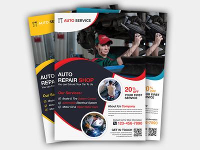 Auto Repair Business & car service Flyer