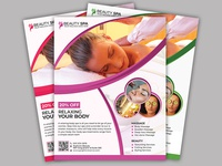 Spa & Beauty Salon Business Flyer