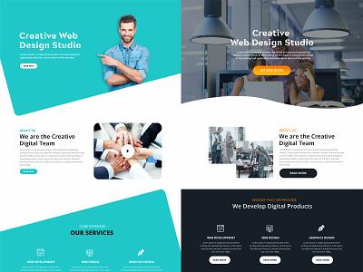 Creative Web Design Studio web ux website design design ui
