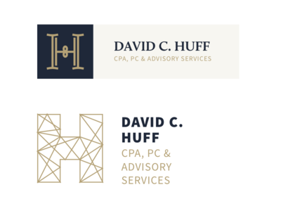 Huff CPA Branding cpa logo exploration design marks identity monogram seal badge
