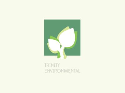 Trinity Environmental Logo leaf green trinity logo