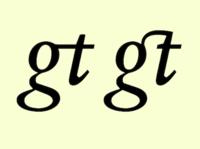 Ligature g+t