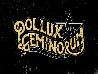 Touch up the logo gray white gold black grunge type foundry polluxofgeminorum