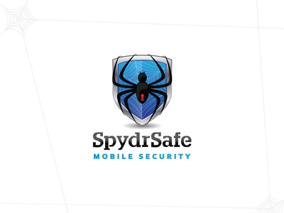 Logo for Mobile Security App suketoejoeh suke logo design logo app security mobile shield spider