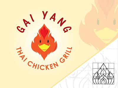 Gai Yang Logo suketoejoeh suke thai art pattern chicken thai thailand logo design logo gai yang
