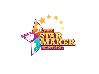 Logo for talent school suketoejoeh suke voice acting dance star talent school logo design logo