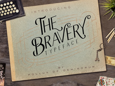 The Bravery Typeface invitation logo labels book cover luxury serif allcaps swash greeting card poster lettering vintage