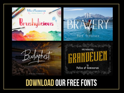 Free Fonts from Pollux of Geminorum font design suketoejoeh typefaces typeface fonts collection fonts