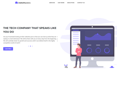 Intelsoftsystems company website redesign