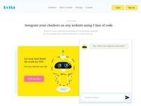 AI Botta landing page