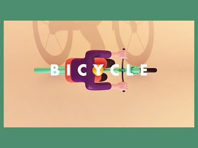 cycling graphicdesign web branding 3d art concept c4d design illustration
