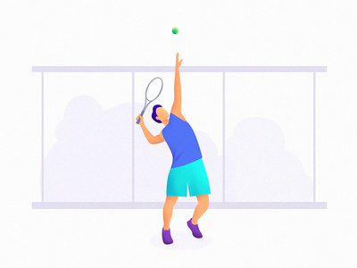 An illustration of tennis