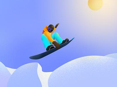 skiing man illustration