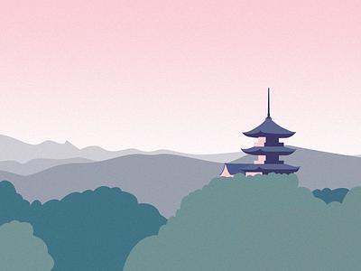an japan sight illustration vector illustration