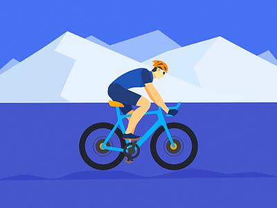 riding man vector illustration
