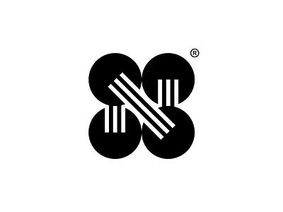 N simple lettermark monogram modern minimalism logotype logogram logo design logo