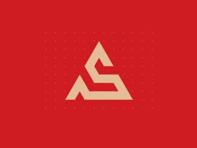 A S Logo Design Concept