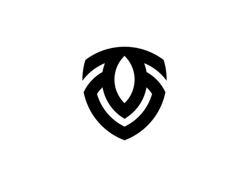 V + T + Shield logogram logotype lettermark monogram branding brand logodesign logo