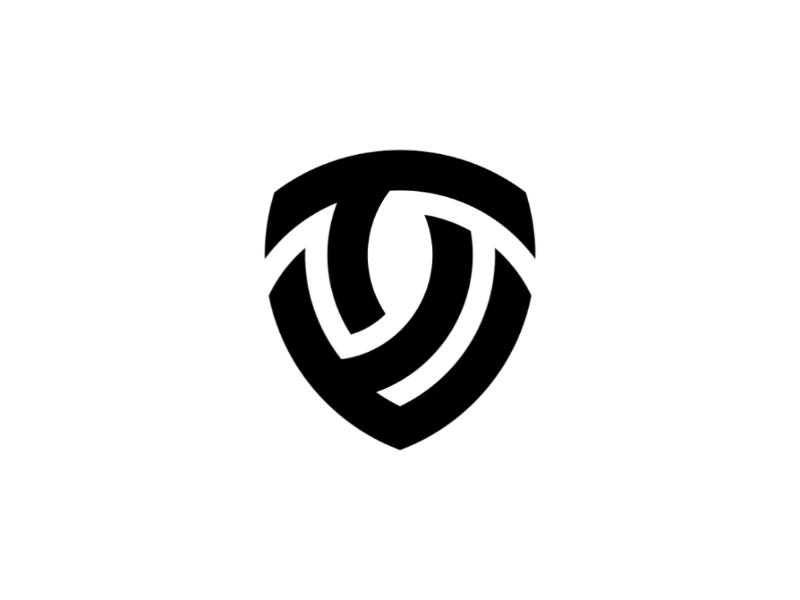 V + T + Shield shield type lettertype letter mark lettermark logo design design logo