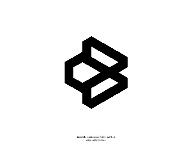 B gram icon symbols marks monogram logogram logotype logo design design logo