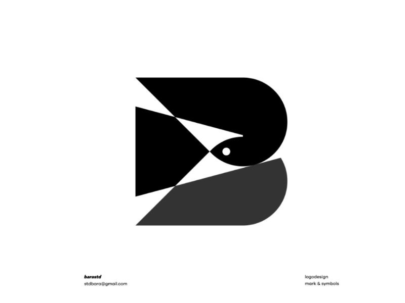 P+BIRD bird bold classic modern minimalist logogram icon symbols marks logo design design logo