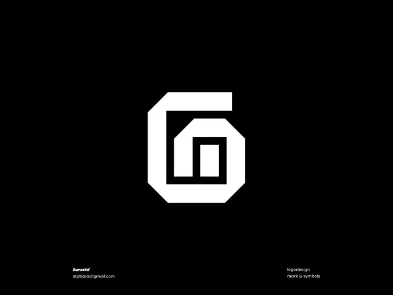G + M Monogram modern geometric minimalism logogram monotype monogram logotype design logo design logo