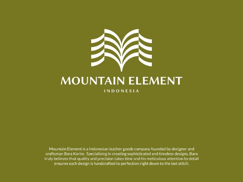Mountain Element identity branding brand logo design logo